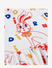 Mini Rodini - MR rabbit aop ss dress - kleider - offwhite - 2