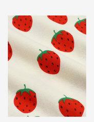 Mini Rodini - Strawberry aop wing dress - kleider - offwhite - 2