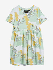 Mini Rodini - Unicorn noodles aop ss dress - kleider - green - 0