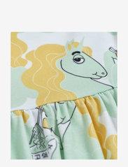 Mini Rodini - Unicorn noodles aop ss dress - kleider - green - 2