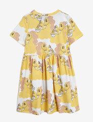 Mini Rodini - Unicorn noodles aop ss dress - kleider - yellow - 1