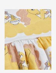 Mini Rodini - Unicorn noodles aop ss dress - jurken - yellow - 2