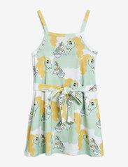 Mini Rodini - Unicorn noodles tank dress - jurken - green - 0