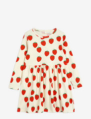 Mini Rodini - Strawberry aop ls dress - jurken - offwhite - 0