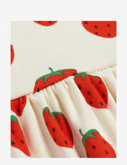 Mini Rodini - Strawberry aop ls dress - jurken - offwhite - 2