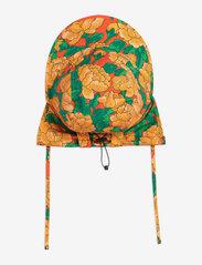 Mini Rodini - Peonies woven sun cap - huer & kasketter - red - 0