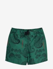 Mini Rodini - Tigers swim shorts - badehosen - green - 0