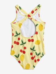 Mini Rodini - Cherry lemonade swimsuit - swimsuits - yellow - 1
