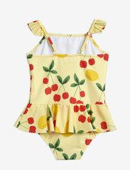 Mini Rodini - Cherry lemonade skirt swimsuit - swimsuits - yellow - 2