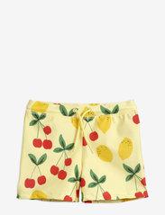 Mini Rodini - Cherry lemonade swim pants - badehosen - yellow - 0