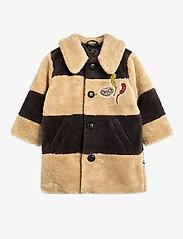 Mini Rodini - Striped faux fur coat - faux fur - beige - 0