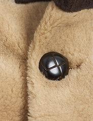 Mini Rodini - Striped faux fur coat - faux fur - beige - 3