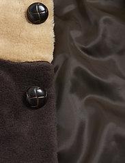 Mini Rodini - Striped faux fur coat - faux fur - beige - 4