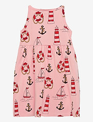 Mini Rodini - Lighthouse aop tank dress - kleider - pink - 1