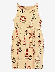 Lighthouse aop tank dress - YELLOW