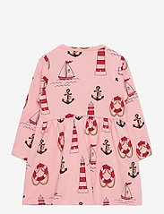 Mini Rodini - Lighthouse aop ls dress - kleider - pink - 1