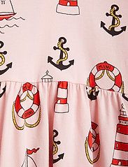 Mini Rodini - Lighthouse aop ls dress - kleider - pink - 2