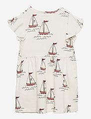 Mini Rodini - Sailing boats aop wingdress - kleider - white - 1
