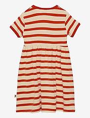 Mini Rodini - Stripe ss dress - kleider - red - 1
