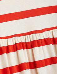 Mini Rodini - Stripe ss dress - kleider - red - 2