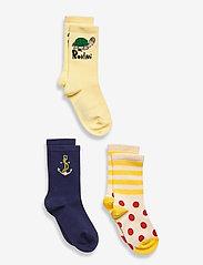 Mini Rodini - Anchor 3 pack socks - skarpety & rajstopy - multi - 0