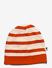 Mini Rodini - Stripe beanie - hatte og handsker - red - 0