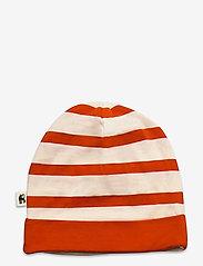 Mini Rodini - Stripe beanie - hatte og handsker - red - 1