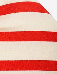 Mini Rodini - Stripe beanie - hatte og handsker - red - 2