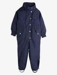 Mini Rodini - Soft ski overall - snowsuit - navy - 2