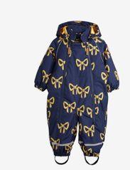 Mini Rodini - Alaska bow baby overall - snowsuit - navy - 0