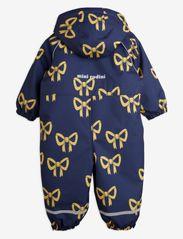 Mini Rodini - Alaska bow baby overall - snowsuit - navy - 1