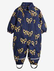 Mini Rodini - Alaska bow baby overall - snowsuit - navy - 2