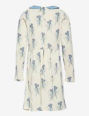 Mini Rodini - Winterflowers aop ls dress - kleider - blue - 1