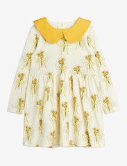Winterflowers aop ls dress - YELLOW