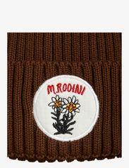 Mini Rodini - Edelweiss pompom hat - beanie - brown - 1