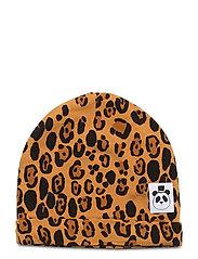 Basic leopard beanie - BEIGE