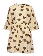 Hearts flared sleeve dress - OFFWHITE