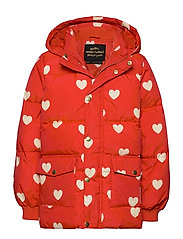 Hearts pico puffer jacket - RED