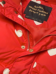Mini Rodini - Hearts pico puffer jacket - puffer & padded - red - 6
