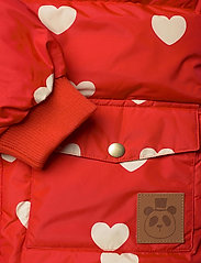 Mini Rodini - Hearts pico puffer jacket - puffer & padded - red - 7