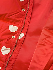 Mini Rodini - Hearts pico puffer jacket - puffer & padded - red - 8
