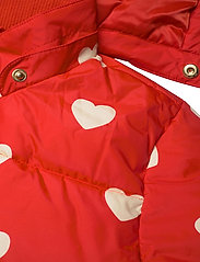 Mini Rodini - Hearts pico puffer jacket - puffer & padded - red - 9