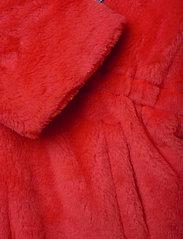 Mini Rodini - Faux fur parka - faux fur - red - 4