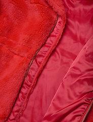 Mini Rodini - Faux fur parka - faux fur - red - 5