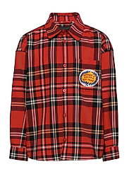 Woven flanell shirt - RED