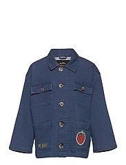 Denim strawberry safari jacket - BLUE