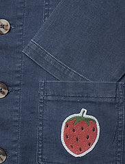 Mini Rodini - Denim strawberry safari jacket - spijkerjassen - blue - 3
