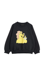 Unicorn noodles sp sweatshirt - BLACK