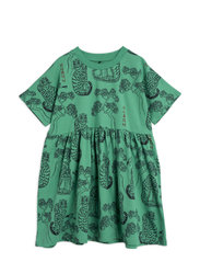 Tigers aop ss dress - GREEN