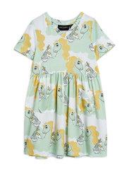 Unicorn noodles aop ss dress - GREEN